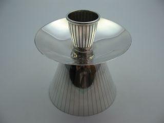 Sehr Schöner 60er Jahre Kerzenständer Kerzenleuchter Aus 835 Silber Bild