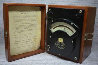 Antikes Frequenzmessgerät Model 339 Weston Usa1952 Holzgehäuse; K23 77 Bild