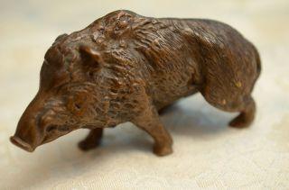 Alte Antike Massive Orig.  Bronzefigur Tierfigur Wildschwein Um 1900 - 1920 Bild