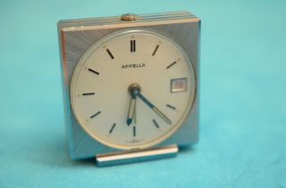 Alter Kleiner Appella Wecker Uhr Reisewecker 7 Jewels Swiss Made Bild