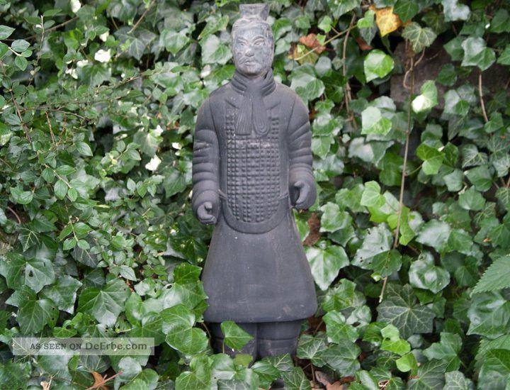 Chinesischer Terrakotta Krieger 65cm Offizier Xian Terracotta Krieger China 891d Entstehungszeit nach 1945 Bild