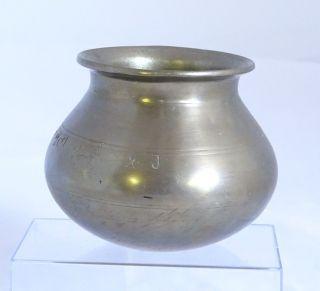 Antike Orientalische Messing Schale Gefäß Vase Topf Mit Arabischen Zeichen Bild