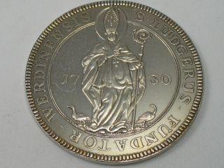 Medaille Taler 1730 Benedikt Von Geismar Abteien Werder Helmstedt 1000 Silber Bild