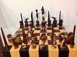 Paul Wunderlich - Schachspiel - Bronze Figuren / Skulpturen Bild