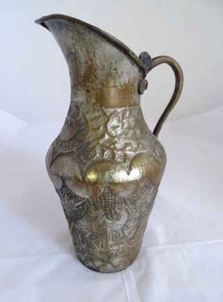 Orientalische Rarität Antike Kanne Schenkkanne Gefäß Mit Herrlicher Verzierung Bild
