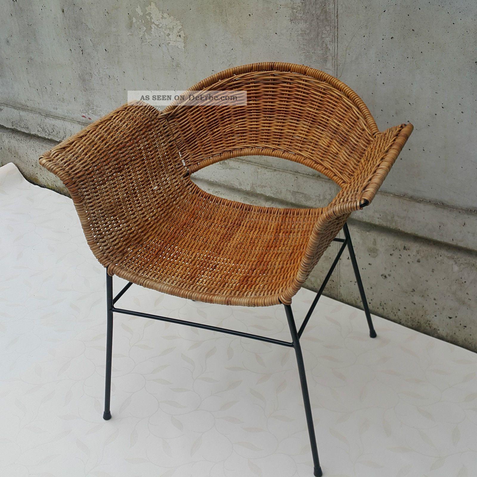 basket chair organic style 50 rocking lounge korb stuhl. Black Bedroom Furniture Sets. Home Design Ideas