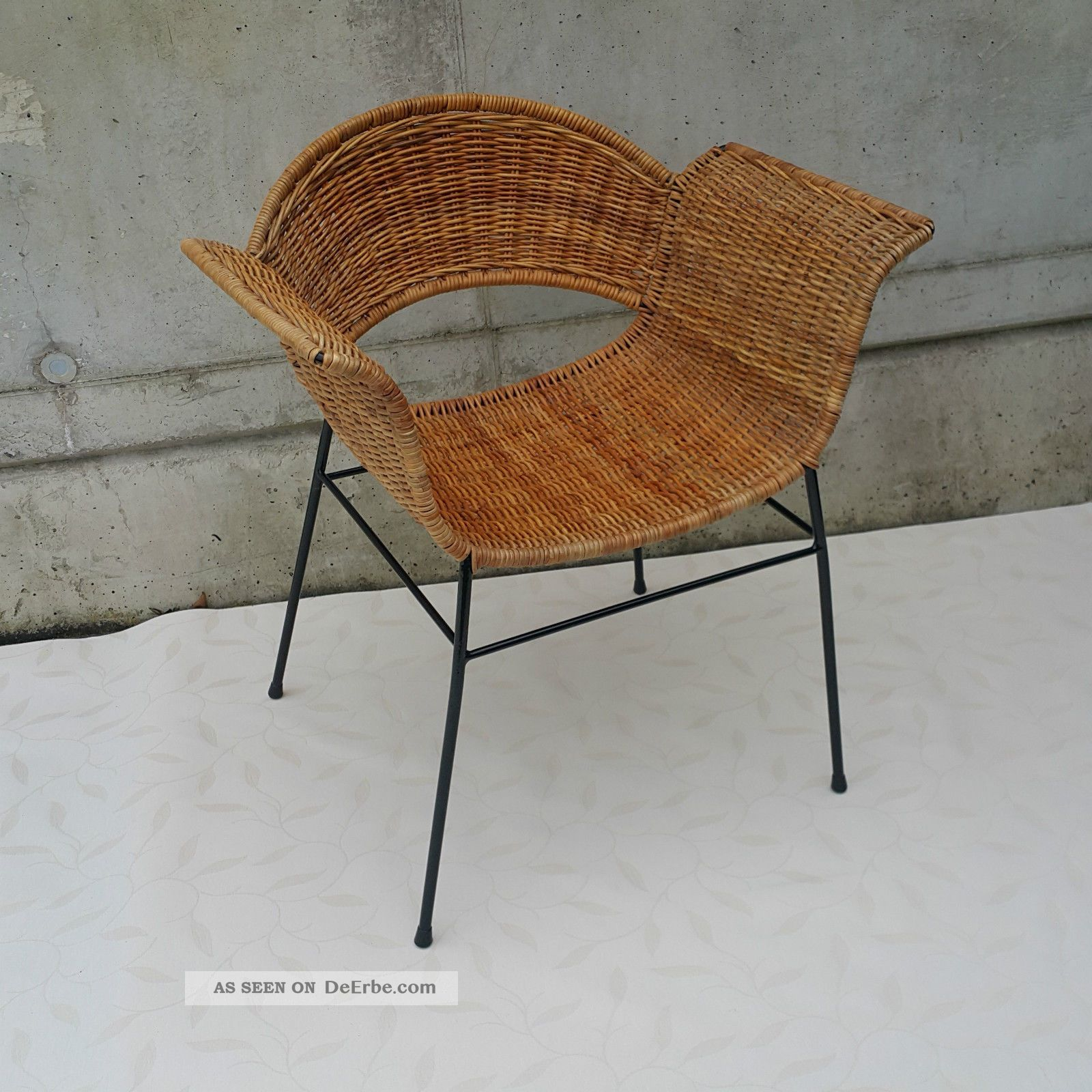 basket chair organic style 50 rocking lounge korb stuhl charles eames string ra. Black Bedroom Furniture Sets. Home Design Ideas