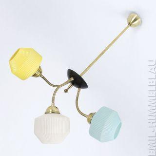 Sputnik 3 - Armig Decken Pendel Lampe 50er Spinne Rockabilly Vintage Pastell Bild