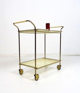 50er Design Servierwagen Mid Century Vintage Cart Mategot Zeit Lochblech Bild