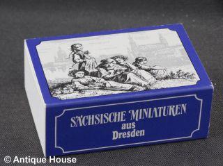 Volkskunst Sächsische Miniaturen Aus Dresden Wiltner Flade Porzellansalon Meisse Bild