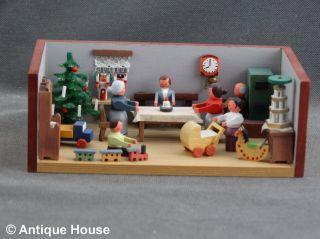 Erzgebirge Volkskunst Miniatur Seiffener Stübelmacher Weihnachtsstube Bild