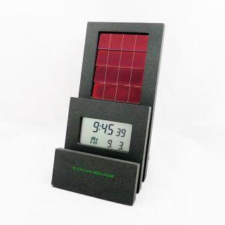 Junghans Germany Mega Solar Funk Digital Uhr Tischuhr Standuhr,  Kalender - Nos Bild