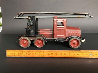 Blechspielzeug Feuerwehrauto Bild