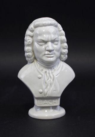 42532 Porzellan Figur Musiker - Büste Bach Weiß Wagner&apel Bild