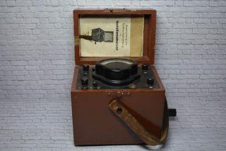 Antiker Isolationsmesser Holzkoffer Gossen Kurbelinduktor Um 1965; K23 57 Bild