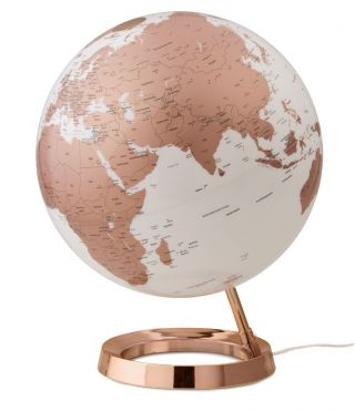 Design - Leuchtglobus Atmosphere Light & Colour Copper 30cm Globus Modern Globe Bild