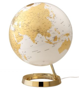 Design - Leuchtglobus Atmosphere Light & Colour Gold 30cm Globus Modern Globe Bild