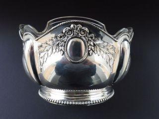 Deutsche 800 Silber Jugendstil Jardiniere Kristallglas Art Nouveau Silver Floral Bild