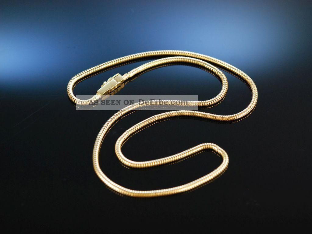 Exquisite Klassische Schlangen Kette Gelb Gold 750 Massiv 12,  6 Gramm Necklace Ketten Bild