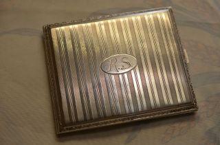 Altes Jugendstil/art Deco Silber 900 Zigarettenetui Bild