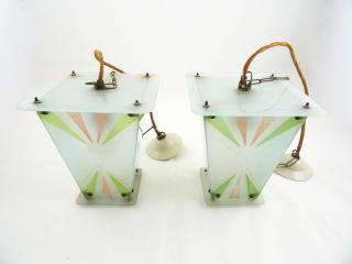 Paar Art Deco Lampen Bauhaus Laternen Geometrisches Avantgarde Design Lamps Bild