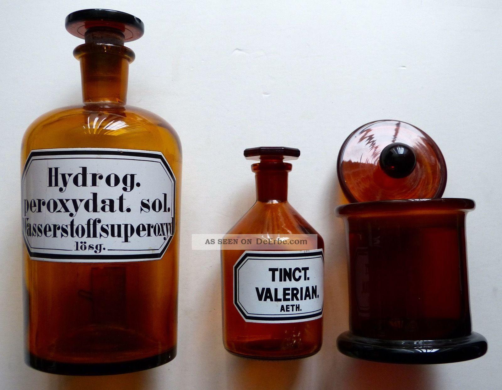 Apothekerflaschen Arzneiflasche Glas - Flasche Labor - Flaschen Medizingläser Arzt & Apotheker Bild