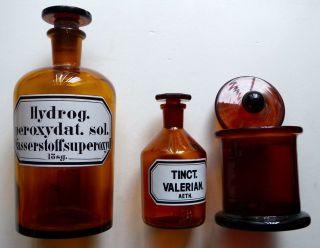 Apothekerflaschen Arzneiflasche Glas - Flasche Labor - Flaschen Medizingläser Bild