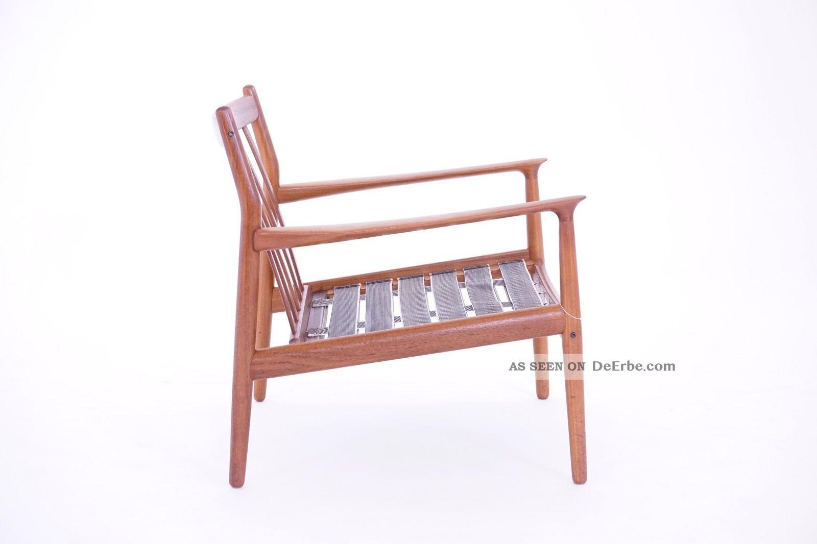60s Grete Jalk Mid Century Modern Teak Sessel 60er Easy Chair Glostrup DÄnemark 1960-1969 Bild