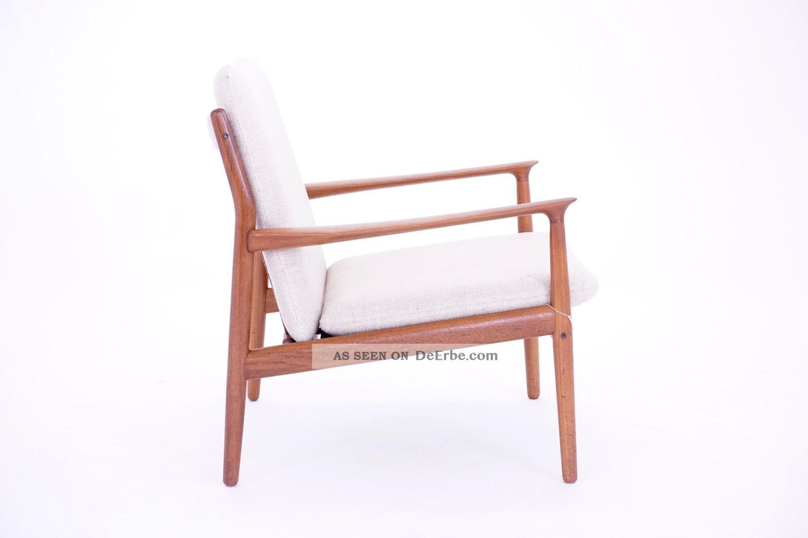 60s Grete Jalk Mid Century Modern Teak Sessel 60er Easy Chair