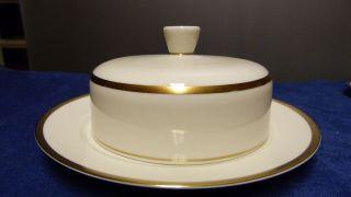 Rosenthal Bettina 50er Jahre Porzellan - Butterdose - Elfenbein/gold Bild