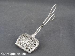 Silber 800 Gebäckzange Kuchenzange Dekor Putti Engel - 45 G Bild