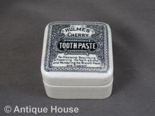 Antike Dose Keramik Hulmes ' Cherry Tooth Paste England Bild
