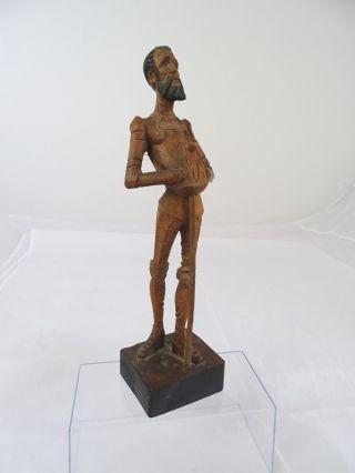 Seltene ältere Holz Figur Don Quijote Schnitzarbeit Handarbeit Ouro 1021 - A Spain Bild