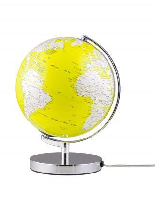 Globus Leuchtglobus Terra Yellow Light Designglobus 25cm Durchmesser Emform Bild