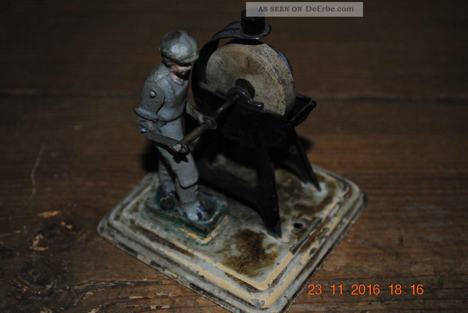 Blechspielzeug Schleifer Alt Dampfmaschine Antriebsmodell Fleischmann/märklin Gefertigt nach 1945 Bild