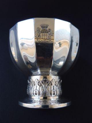 France 950 Silber Konfekt Aufsatz Wappen LÖwe Pferd Minerva Armorier Lion Argent Bild
