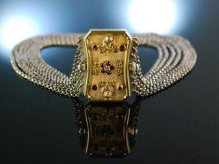 SchÖn Zu Tracht Und Dirndl Antike Kropfkette Silber 8reihig Österreich Um 1860 Bild