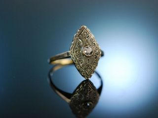 Antique Engagement Ring Art Deco Verlobungs Ring Gold 585 Platin Diamant Um 1925 Bild