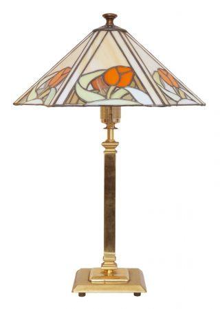 Schöne Jugendstil Tiffany Leuchte Tischlampe Messing Einzelstück Bild