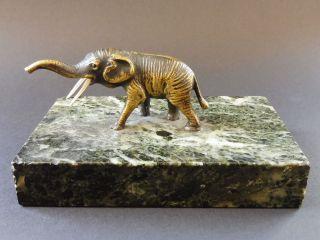 Jugendstil Wiener Bronze Elefant Briefbeschwerer Paperweight Art Nouveau Vienna Bild