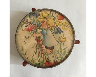 Alte Tortenplatte / Drehteller Für Puppenküche - Dachbodenfund Bild