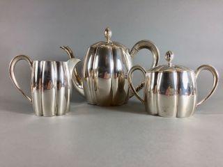 Art Deco Kaffeeservice,  Silber 800,  Deutsch,  Hugo Böhm Bild