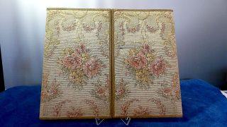 Alte Gobelin Briefpapier Mappe / Schreibtisch Mappe - Wunderschön - Vintage Bild