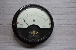 Antikes Amperemeter,  Nieaf,  0 - 10a Acdc,  Um 1920 Ø 20cm; K23 37 Bild