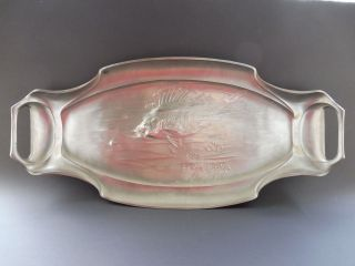 65cm Orivit Barsch Fisch Jugendstil Tablett Art Nouveau Tray Fish Perch Pre Wmf Bild