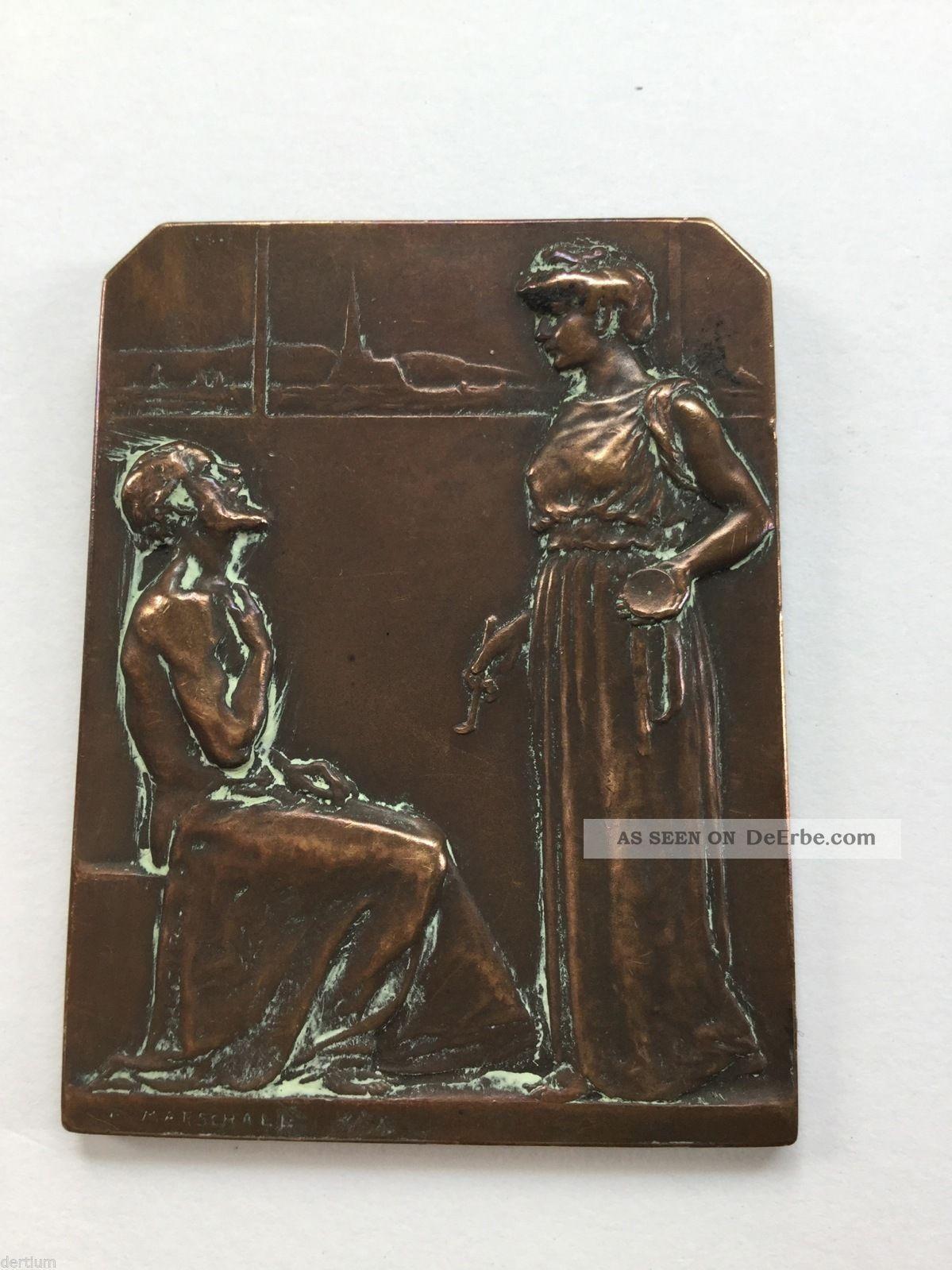 Medaille - Plakette R.  Marschall 1908 1900-1949 Bild