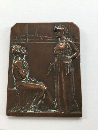 Medaille - Plakette R.  Marschall 1908 Bild
