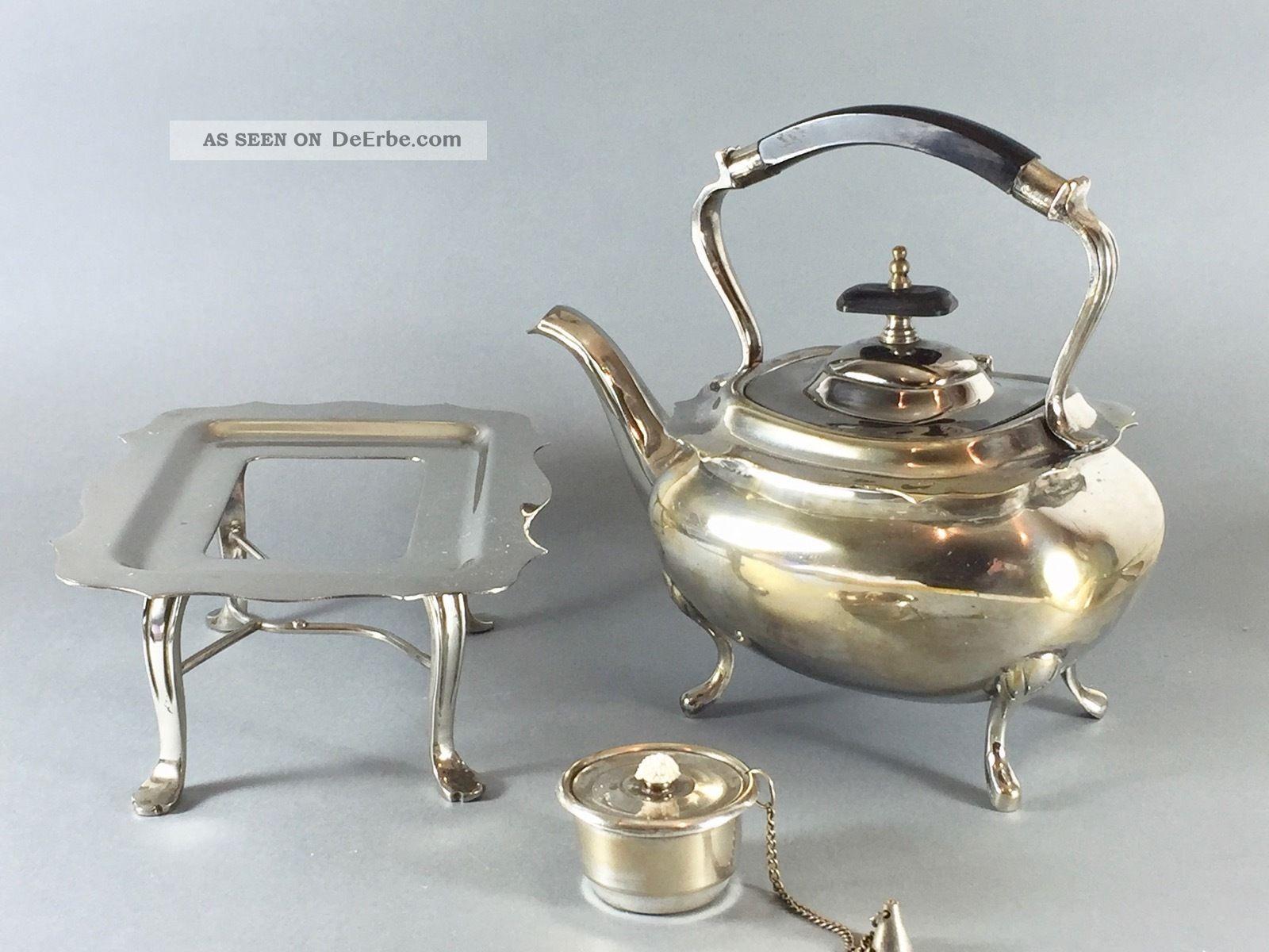 Teekessel Auf Rechaud - Versilbert Objekte vor 1945 Bild