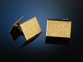 Classy Cufflinks Massive ManschettenknÖpfe 17,  7 Gramm Gold 750 Hamburg Um 1960 Bild