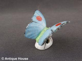Alter Tropfenfänger Porzellan Schmetterling Blau Dripcatcher Thüringen Bild